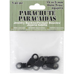 Black - Parachute Cord Jewelry Buckles 5mm 5/Pkg
