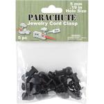Black - Parachute Cord Jewelry Cord Clasp 5mm 5/Pkg