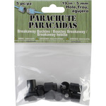 Black - Parachute Cord Safety Buckles 5mm 5/Pkg