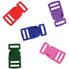 Assorted Colors - Parachute Cord Bracelet Buckles 15mm 5/Pkg PEPPERELL-Parachute Cord Buckles. Each of these plastic buckles has two individual pieces that clip together to form one piece. Simply pinch the edges to open and separate. The slots are 15mm wide and each package includes five buckles in assorted colors. Imported.