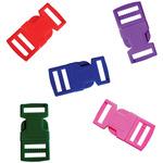 Assorted Colors - Parachute Cord Bracelet Buckles 15mm 5/Pkg