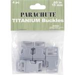 Titanium - Parachute Cord Bracelet Buckles 15mm 4/Pkg