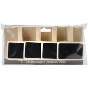 "2.875"" 4/Pkg - Chalkboard Clothespins"