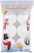 "White - Smooth Foam Balls 3"" 6/Pkg"