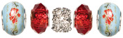 Red Crystal - Trinkettes Glass and Metal Beads 5/Pkg