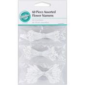 "Satin, Glittery & Realistic - Flower Stamens 2.25"" 60/Pkg"""