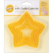 Stars - Nesting Plastic Cookie Cutter Set 6/Pkg