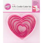 Hearts - Nesting Plastic Cookie Cutter Set 6/Pkg