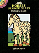 Little Horses Stained Glass Clr Bk - Dover Publications
