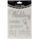 Clear - Bella! Wedding Self-Adhesive Bling Words 5/Pkg