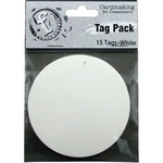 Medium Circle/White - Fundamentals Tags 15/Pkg