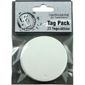 Small Circle/White - Fundamentals Tags 25/Pkg