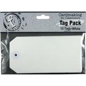 Large Rectangle/White - Fundamentals Tags 15/Pkg