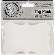Medium Scallop/White - Fundamentals Tags 20/Pkg
