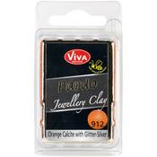 Orange Calcit W/Silver Glitter - PARDO Jewelry Clay 56g