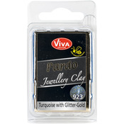 Turquoise W/Gold Glitter - PARDO Jewelry Clay 56g