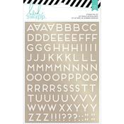 Gold Alpha Foil Stickers - Wanderlust - Heidi Swapp