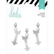 Wanderlust Metal Charm Embellishments 3/Pkg - Arrows