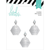 Hexagons Metal Charm Embellishments - Heidi Swapp