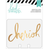 Memorydex Gold Foil Clear Cards - Wanderlust - Heidi Swapp