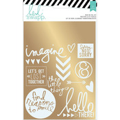 Sentiments Foil Rub On Kit - Wanderlust - Heidi Swapp
