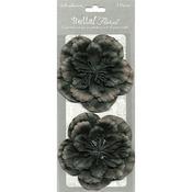 Black - Bella! Paper Florals 2/Pkg