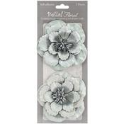 Silver - Bella! Paper Florals 2/Pkg