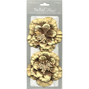 Chocolate - Bella! Paper Florals 2/Pkg