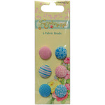 Forget-Me-Not Fabric Brads