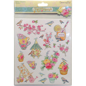 Flowers - Forget-Me-Not A4 Glitter Stickers