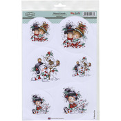"Winter Friends - Wee Stamps Topper Sheet 8.3""X12.2"""