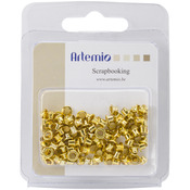 "Gold - Artemio .20"" Mini Eyelets 100/Pkg"
