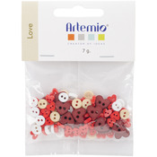 Love - Artemio Mini Shaped Buttons
