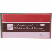 "Red & Green - Anita's Square Textured Cards/Envelopes 4""X4"" 25/Pkg"