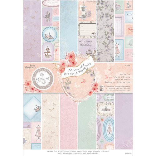 Paper Crafts > Paper > Papermania Bellisima Ultimate Die - Cut/Paper Pack A4 48/Sheet-: A Cherry On Top