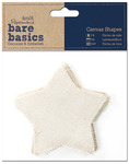Star - Papermania Bare Basics Canvas Shapes 6/Pkg