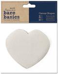 Heart - Papermania Bare Basics Canvas Shapes 6/Pkg