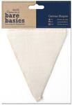 Flag - Papermania Bare Basics Canvas Shapes 6/Pkg