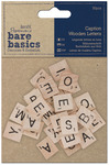 Caption - Papermania Bare Basics Wooden Letters 30/Pkg