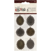 Papermania Madame Payraud Metal Charms 6/Pkg-