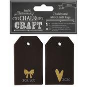 Chalk Craft Chalkboard Glitter Gift Tags 20/Pkg-