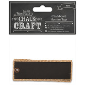 Chalk Craft Chalkboard Hessian Tags 6/Pkg-
