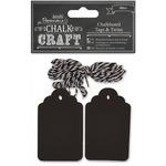 Chalk Craft Chalkboard Tags & Twine 20/Pkg