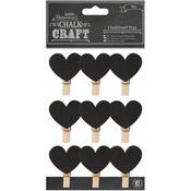Hearts - Chalk Craft Chalkboard Pegs 9/Pkg