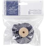Papermania Parisienne Blue Pleated Fabric Trim 1m-