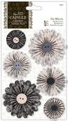 Papermania Midnight Blush Pinwheels 6/Pkg-
