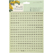 Papermania Botanicals Mini Alphabet Stickers-
