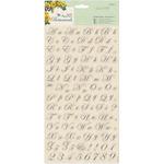Papermania Botanicals Alphabet Stickers