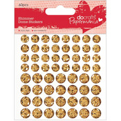 Gold - Papermania Shimmer Dome Bling Stickers 60/Pkg