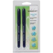Blue - Manuscript Roller Ball Pen Twin Pack